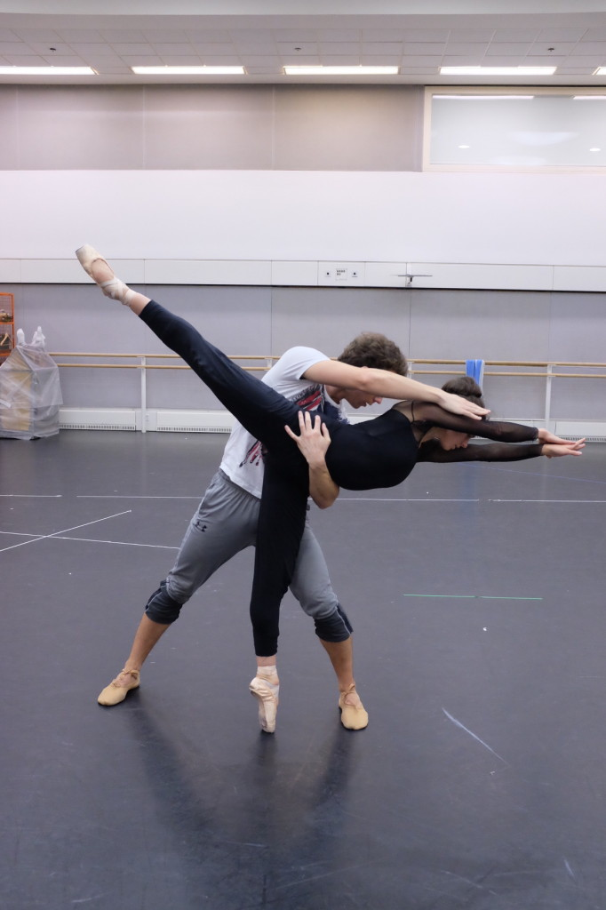 Romany Pajdak and Tomas Mock in rehearsal for Void and Fire. Photo by Dolly Brown.